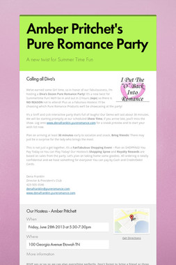 Amber Pritchet's Pure Romance Party