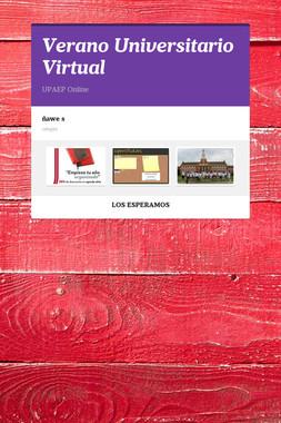 Verano Universitario Virtual
