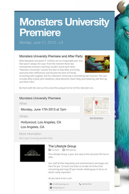 Monsters University Premiere
