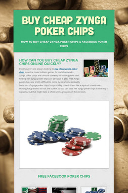 Buy Cheap Zynga Poker Chips