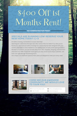 $400 Off 1st Months Rent!