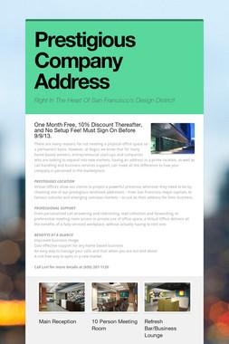 Prestigious Company Address