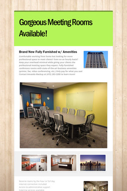 Gorgeous Meeting Rooms Available!