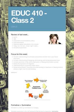 EDUC 410 - Class 2