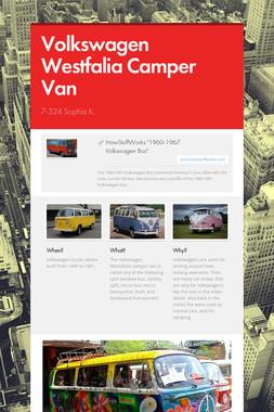 Volkswagen Westfalia Camper Van