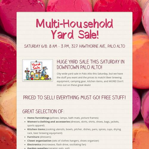 Multi-Household Yard Sale!