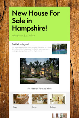 New House For Sale in Hampshire!