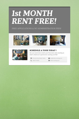1st MONTH RENT FREE!