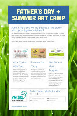 Father's Day + Summer Art Camp