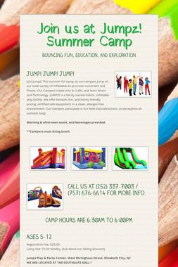Join us at Jumpz! Summer Camp
