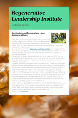 Regenerative Leadership Institute
