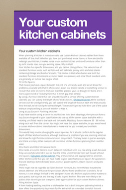 Your custom kitchen cabinets
