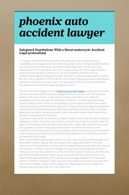 phoenix auto accident lawyer