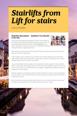 Stairlifts from Lift for stairs