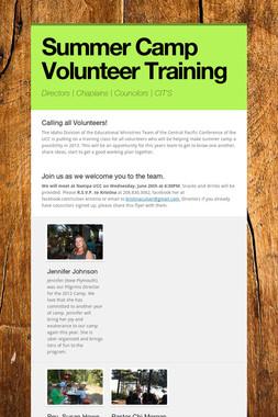 Summer Camp Volunteer Training