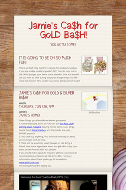 Jamie's Ca$h for GoLD Ba$H!