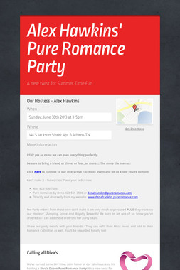 Alex Hawkins' Pure Romance Party