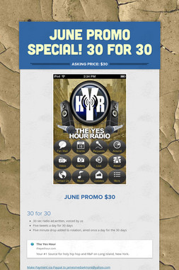 JUNE PROMO SPECIAL! 30 FOR 30