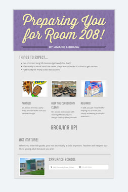 Preparing You for Room 208!