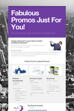 Fabulous Promos Just For You!