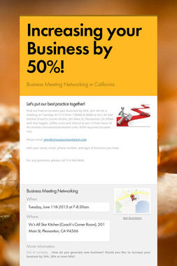 Increasing your Business by 50%!