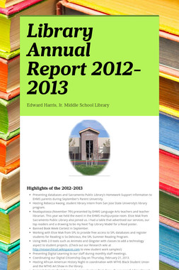Library Annual Report 2012-2013