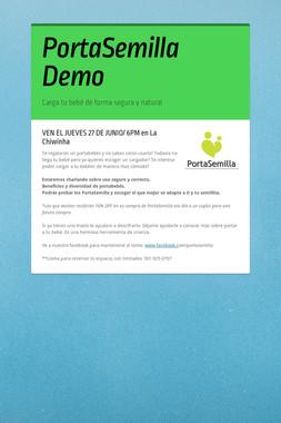PortaSemilla Demo
