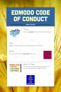 Edmodo Code Of Conduct