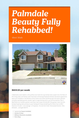 Palmdale Beauty Fully Rehabbed!