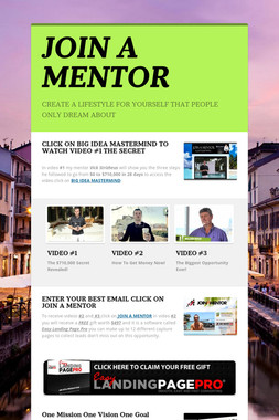 JOIN A MENTOR