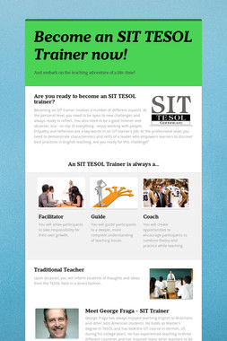 Become an SIT TESOL Trainer now!