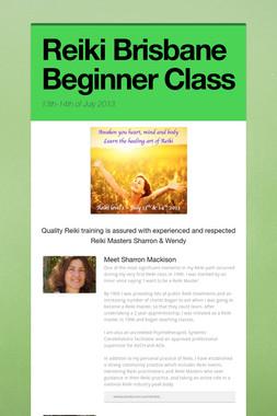 Reiki Brisbane Beginner Class