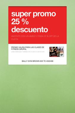 super promo 25 % descuento