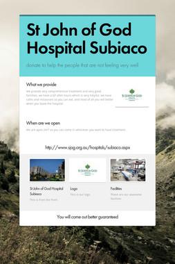 St John of God Hospital Subiaco
