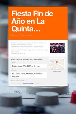 Fiesta Fin de Año en La Quinta…
