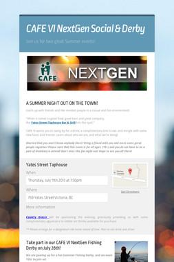 CAFE VI NextGen Social & Derby