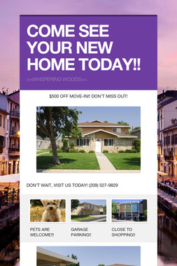 COME SEE YOUR NEW HOME TODAY!!