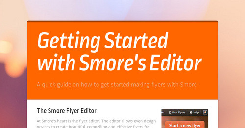 getting started with smore s editor smore newsletters for education