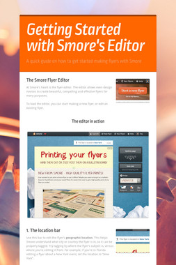 Getting Started with Smore's Editor