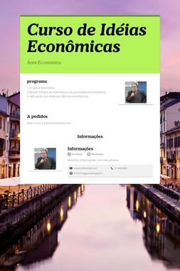 Curso de Idéias Econômicas