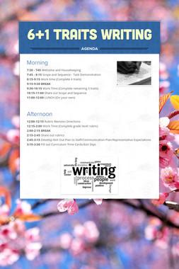 6+1 Traits Writing