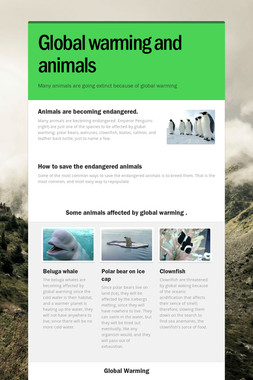 Global warming and animals