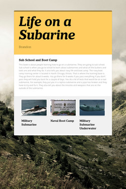 Life on a Subarine