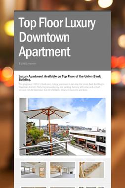 Top Floor Luxury Downtown Apartment