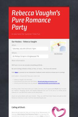 Rebecca Vaughn's Pure Romance Party