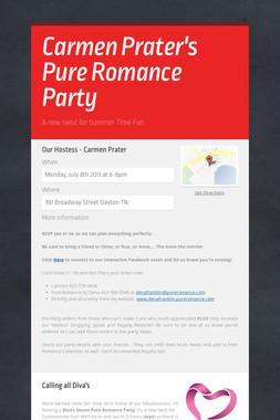 Carmen Prater's Pure Romance Party