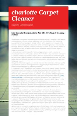 charlotte Carpet Cleaner