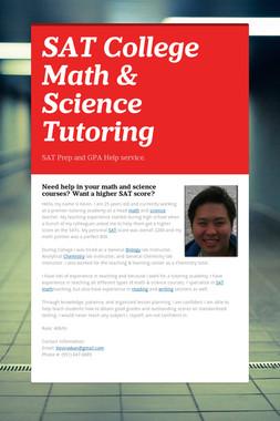 SAT College Math & Science Tutoring