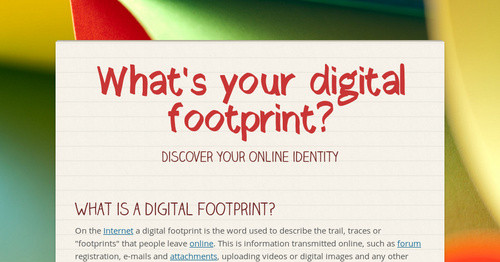 what s your digital footprint smore newsletters