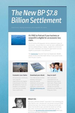 The New BP $7.8 Billion Settlement